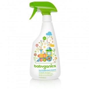 Babyganics toy & highchair cleaner, fragrance free , 17oz
