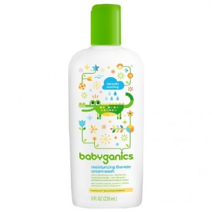 Babyganics Moisturizing Therapy Cream Wash, Fragrance Free 8 oz (237 ml)