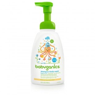 shampoo + body wash, fragrance free, 16oz